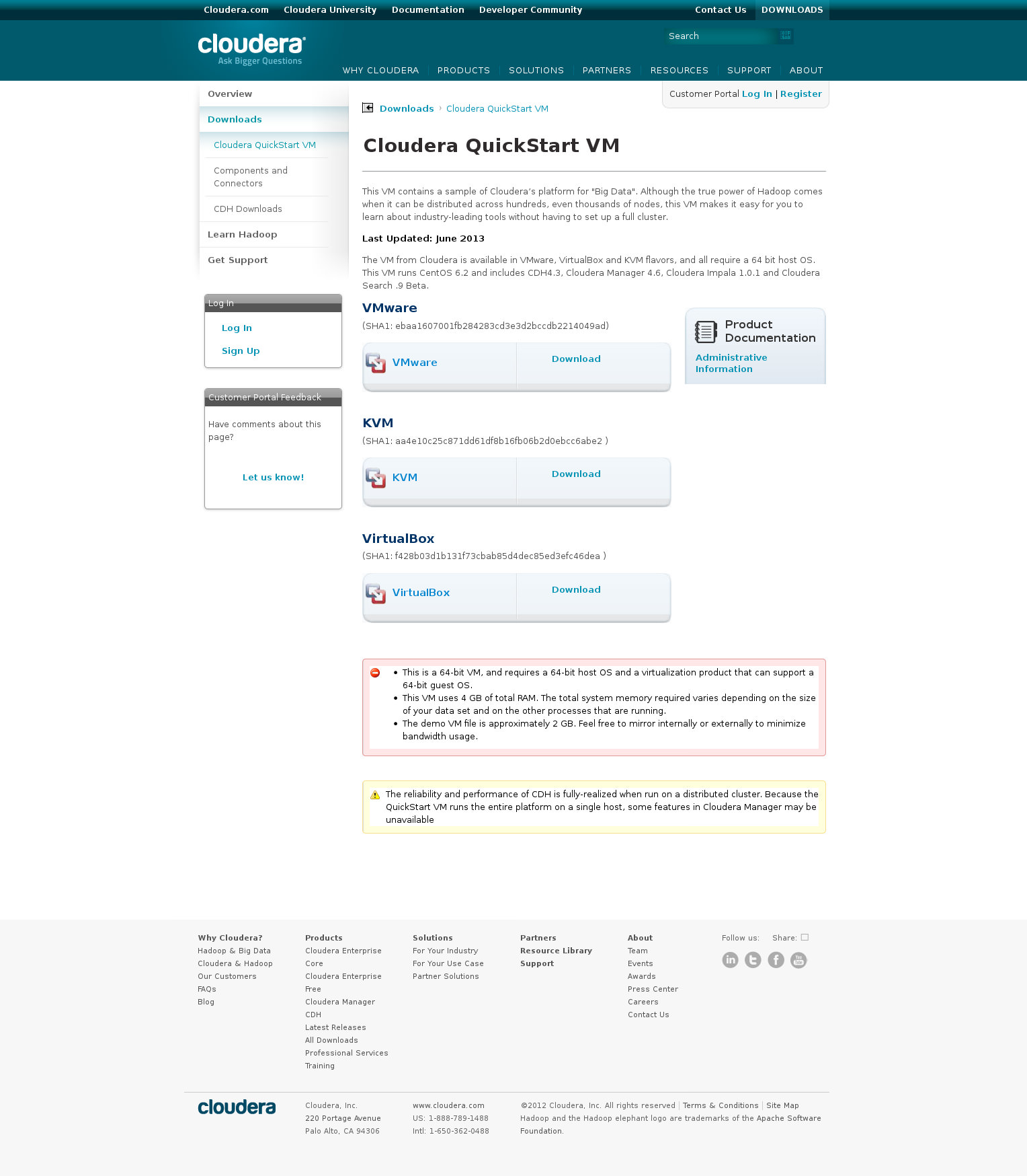 Cloudera QuickStart VM - Cloudera Support(1)